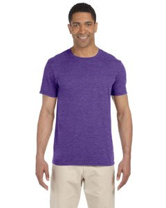 - Gildan Ladies' 4.5 Oz. Softstyle Junior Fit T-Shirt - Heather Purple - 3XL