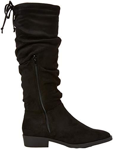 Bumpy Mujer New Altas Negro 1 black Botas Look Para zw7qOX