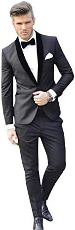 メンズクラシックフィット2ピーススーツショールラペルビジネスウェディングフォーマルドレス
