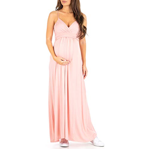 Women's Cami Strap Ruched Maternity Dress - Made in USA by Mother Bee