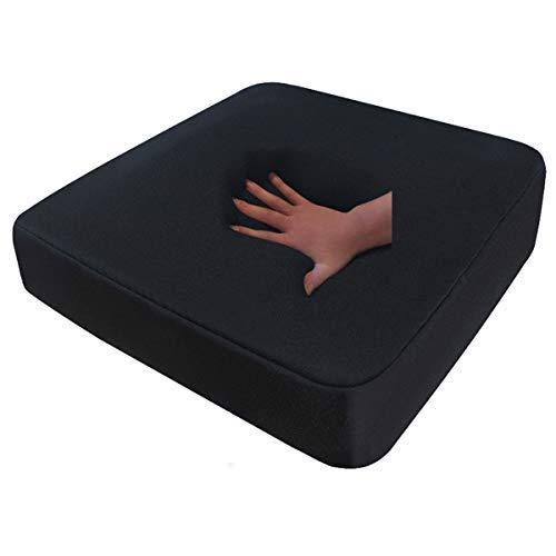 Viskoelastisches Sitzkissen viscoelastisches Anti Dekubitus Sitzpolster 40 x 40 x 10 cm SCHWARZ Visco Visko für Rollstuhl Auto LKW Bürostuhl Chefsessel Kissen Stütz Kissen Rücken + Gesäß (RG 85)