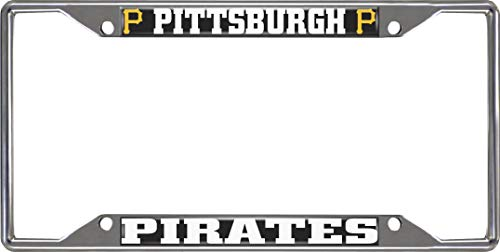 - FANMATS MLB - Pittsburgh Pirates License Plate Frame