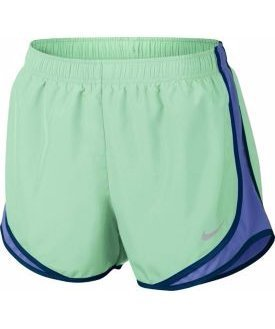 Nike Vrouwen Vochtafvoerende Colorblock Shorts Verse Munt / Komeet Blauw / Wg