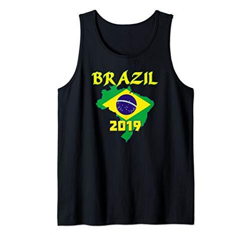 (Brazil Flag Brasil Bandeira - Patriotic Pride 2019 Tank Top )