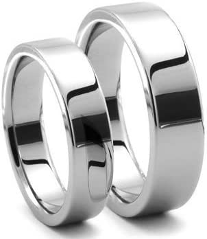 Available Sizes 5-15 Including Half Sizes Please e-mail sizes Men /& Ladies 8MM//6MM Tungsten Carbide Shiny Gold Wedding Band Ring Set Classic