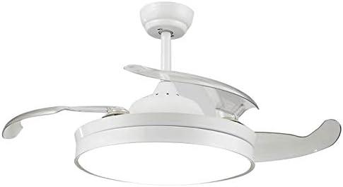 Etelux luz del Ventilador de Techo, Ventilador de Techo con luz, 106 cm de Diámetro, 65 W, 4 aspas Reversibles, 3 velocidades, 3 Colores (Blanco): Amazon.es: Hogar