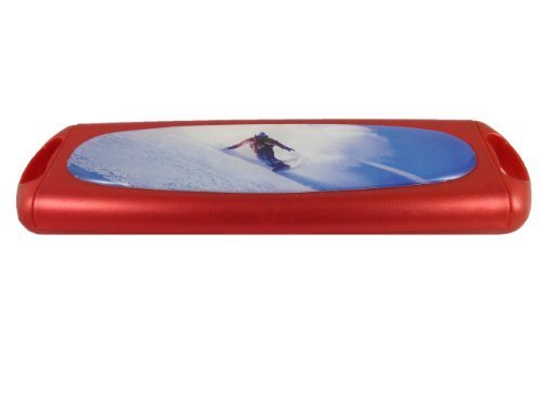 Daily Disposable Red Coloured Contact Lens Storage Case - (Snowboarding) by cvoptics