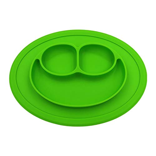 Zhuygba 1Pc Feeding Bowl Plate for Kids, Baby-Safe Silicone, Dining Table Food Plate Plate for Toddlers