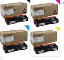 Ricoh 4 Color OEM for Ricoh SP C250DN SP C250SF Toner Set (2,300 Yield each) 407539, 407540, 407541, 407542, Black