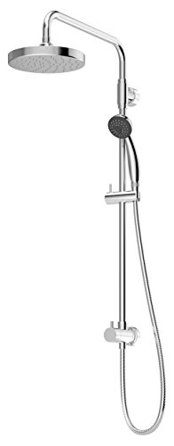 Exposed Shower Column - Symmons 35EX-RD1 Dia 1-Spray Hand Shower Head Combo Kit in Chrome
