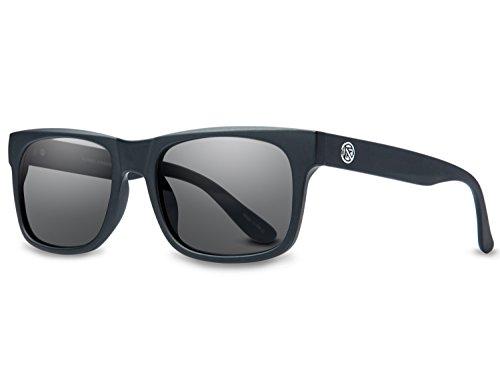 FILTRATE Sunglasses LITMUS 56mm-17mm-140mm (matte black / polarized grey, one ()