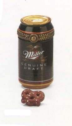 - Miller Genuine Draft Beer Can Porcelain Hinged Box