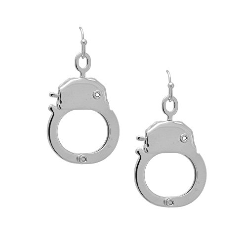 Spinningdaisy Womens Silver Plated Functional Handcuff Earrings ()