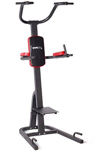 SportPlus Power Tower mit Dipsbarren, Klimmzugstange und PLYO Plattform