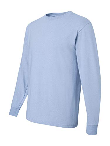 Jerzees Men's Heavyweight Blend 50/50 Long Sleeve T-Shirt (Light Blue, Medium) ()