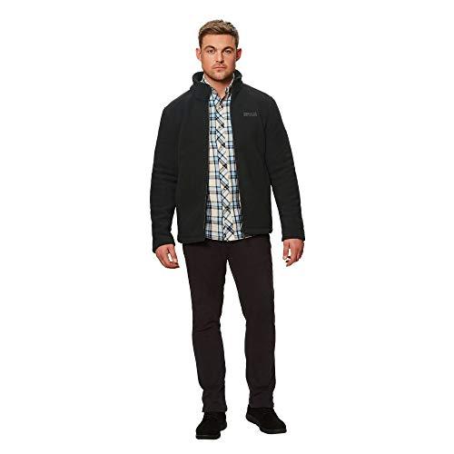 Fleece Zip Garrian black Mens Full Backed Polyester Regatta Jacket Sherpa Black 4fA60w