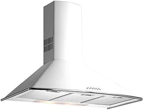 Teka - Campana decorativa pared dm675w blanco clase de eficiencia energetica a: Amazon.es: Grandes electrodomésticos