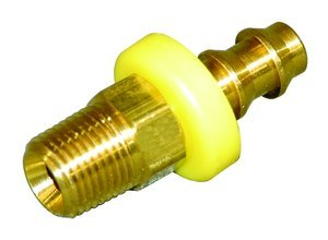 1/2'' Hose x 3/8'' Male NPT Brass Barb-Tite Hose Barb, (Package of 5)