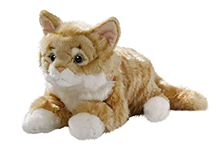 Amazon Com Cat Lying Brown Tabby 14 Inches 35cm Plush Toy Soft