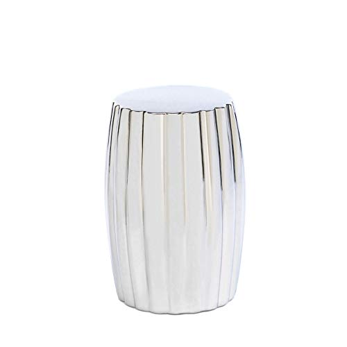 Home Locomotion Ceramic Silver Decorative Stool (Decorative Garden Stool)