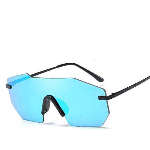 HD HUACANG Sol Vintage Unisex Gafas Oro Azul Azul Diamond de Azul UV400 Square Gafas Negro Ojos Rosa conducción Steampunk Sol Plata Rojo Verde de Color OvOrqnxz