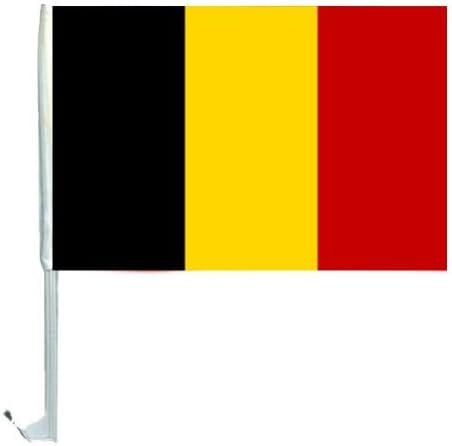 1 x Bandera coche Auto Banderas 45 x 30 Bélgica Auto Bandera Banderas Banderas Banderas WM 2014 con Soporte: Amazon.es: Deportes y aire libre