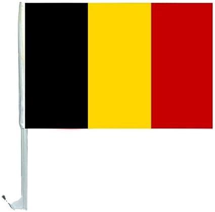 1 X Autofahne Autoflagge 45 X 30 Belgien Auto Fahne Fahnen Flagge Flaggen Em 2016 Mit Halterung Sport Freizeit