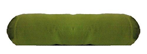 - Saffron Round Massage Bolster Cover Faux Silk Neck Roll Pillow Case Diameter Diameter 7