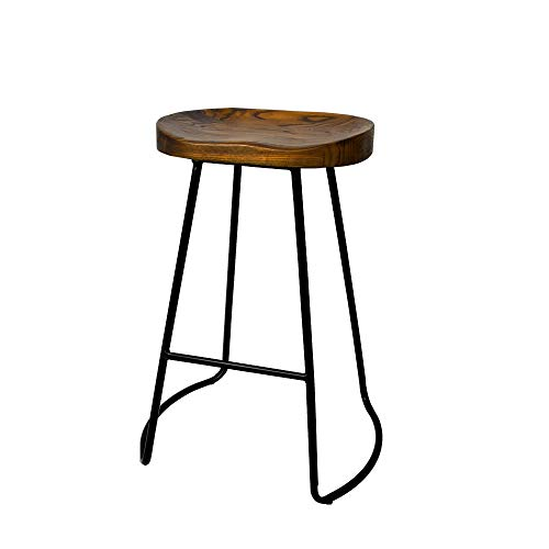 Artiss 2 Pcs Bar Stools 65cm Height Wooden Tractor Seat Metal Counter Stools Industrial Bar Chairs for Home Kitchen…