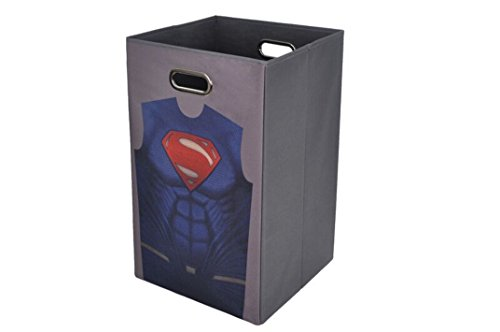 Sale!! Modern Littles Batman vs Superman Grey Folding Laundry Bin