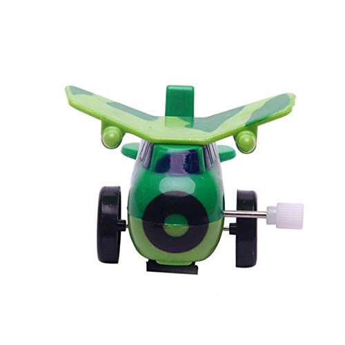 Wind Up Toys - Unisex Aircraft Shape Wind Up Toy Green Color Months Children Kids Gift Lovely Cute Educational - Infants That Rabbit Cats Boxing Toddlers Adults Chick Robot Basket Animal -