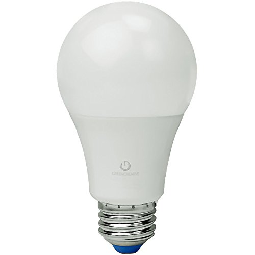 Green Creative 97782 A19 LED Lightbulb, 4000K (Daylight White), Dimmable, 9W, 860 lm, Energy Star, Fully Omni