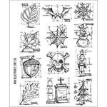 Stampers Anonymous Tim Holtz Cling Rubber Stamp Set, 7 by 8.5-Inch, Mini Blueprint -