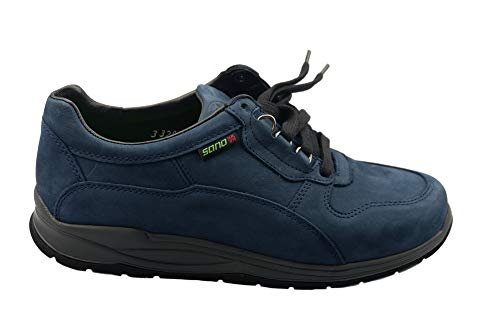 Sano Rolling Nubuck Shoes Walking Blue Navy Mephisto Women and Slash for 7xwdPOWqZ