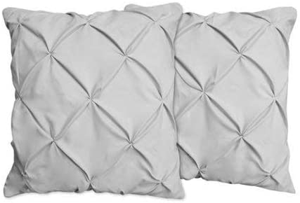 European Pillow Shams Set of 2PCs gray Euro Pillow Shams SOLID 500TC 100/%COTTON