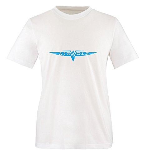 Blanco cortas azul Mangas Hombre Air wolf Camiseta Blanco 4wqUYY
