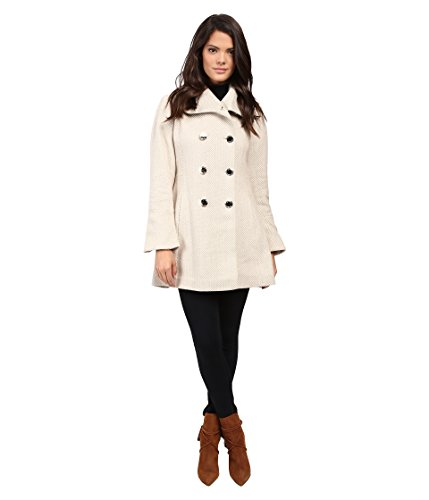 Jessica Simpson Envelope Collar Double Breasted Coat (Camel), Medium (Slit Side Wool Coat)