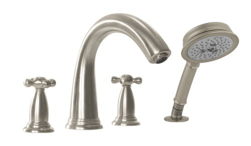 Hansgrohe Swing C Trim 4-Hole Roman Tub Set, Brushed Nickel - Faucet Shower Hansgrohe Retroaktiv