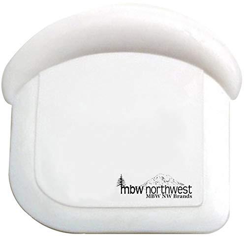 Nylon Pan Scraper - Nylon Plastic Pot, Pan & Dish Scraper by MinWill Brands, Set of 4, White