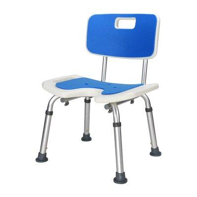シャワースツール\\シャワーチェア 背もたれバス障害援助付き調節可能な高さのポータブルシャワースツールバスルームシート バスシートベンチ\\バススツール (色 : B) B07DXLD6W5 B B