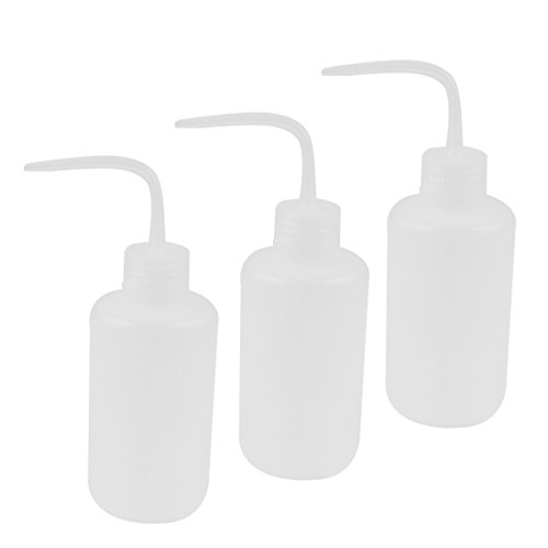Lab Right Angle Tip Plastic Liquid Storage Squeeze Bottle 250mL 3 Pcs