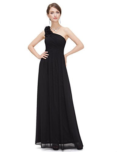 Ever-Pretty Flower One Shoulder Long Bridesmaids Evening Party Dress 08237