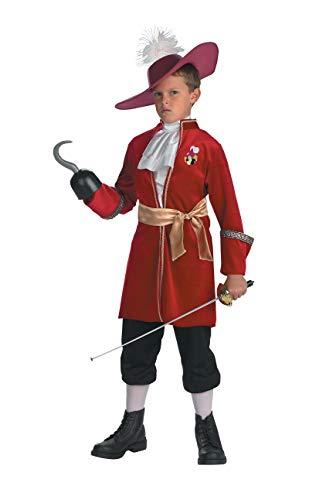 Boys 4-6 Captain Hook Costrume Peter Pan Disney Red ()