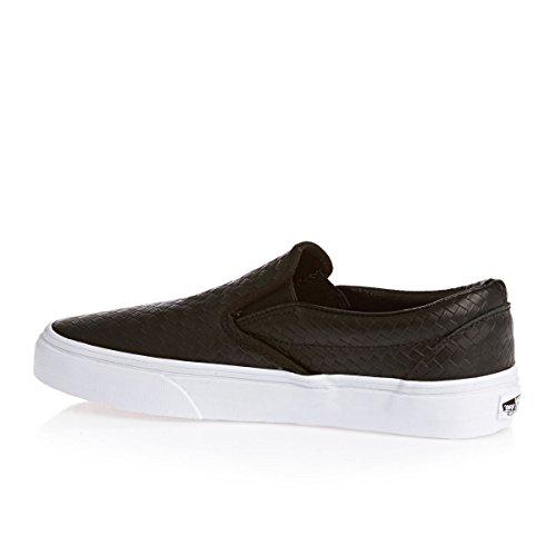 Vans Classic Slip-On VEYEBWW - Zapatillas clásicas de tela unisex Black/White