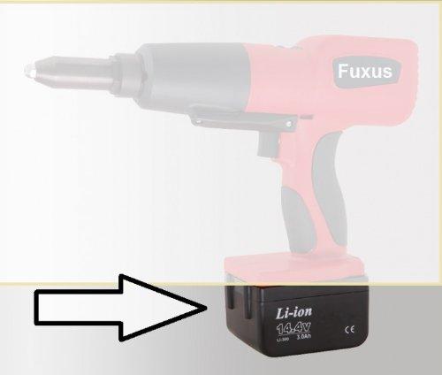 Fuxus Ersatzakku für Akku Nietpistole FX144ANP, Li-Ion, DC14.4V, 3000mAH