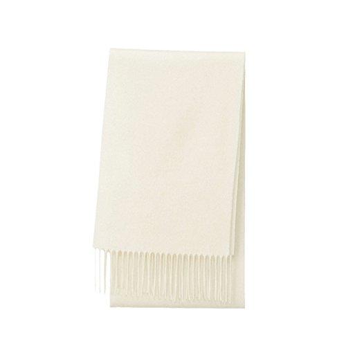 Fineplus Women's New Thicken Wool Scarf Cashmere Shawls Neck Scarf Cream White