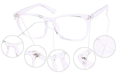 Agstum Wayfarer Plain Glasses Frame Eyeglasses Clear Lens
