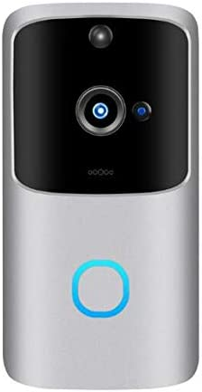 アラームホームセキュリティカメラ用M10 Proのスマートワイヤレス720P HD Wifiのスマートなドアベルビデオビジュアルリングカメラインターホン,銀