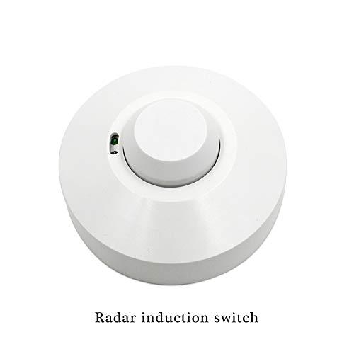 RUISI 360 degree Microwave Sensor Radar Light Control Switch power-saving Ceiling wall Mounted Adjustable Smart Motion Sensor Light Radar Switch by RUISI (Image #1)