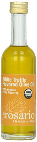 Organic Truffle Oil - Da Rosario 100% Organic White Truffle Flavored Olive Oil, 1.76-Ounce Glass Bottle